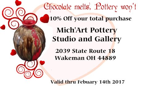 Valentine's Day Advertisement, 10% discount with coupon until Feb. 14th, 2017